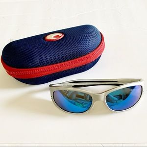 Costa Del Mar Unisex Blue Mirror Sunglasses